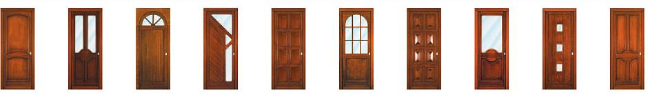 Portes d'entrée bois Nikal